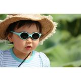 Enfant profitant du soleil avec des lunettes et un chapeau
